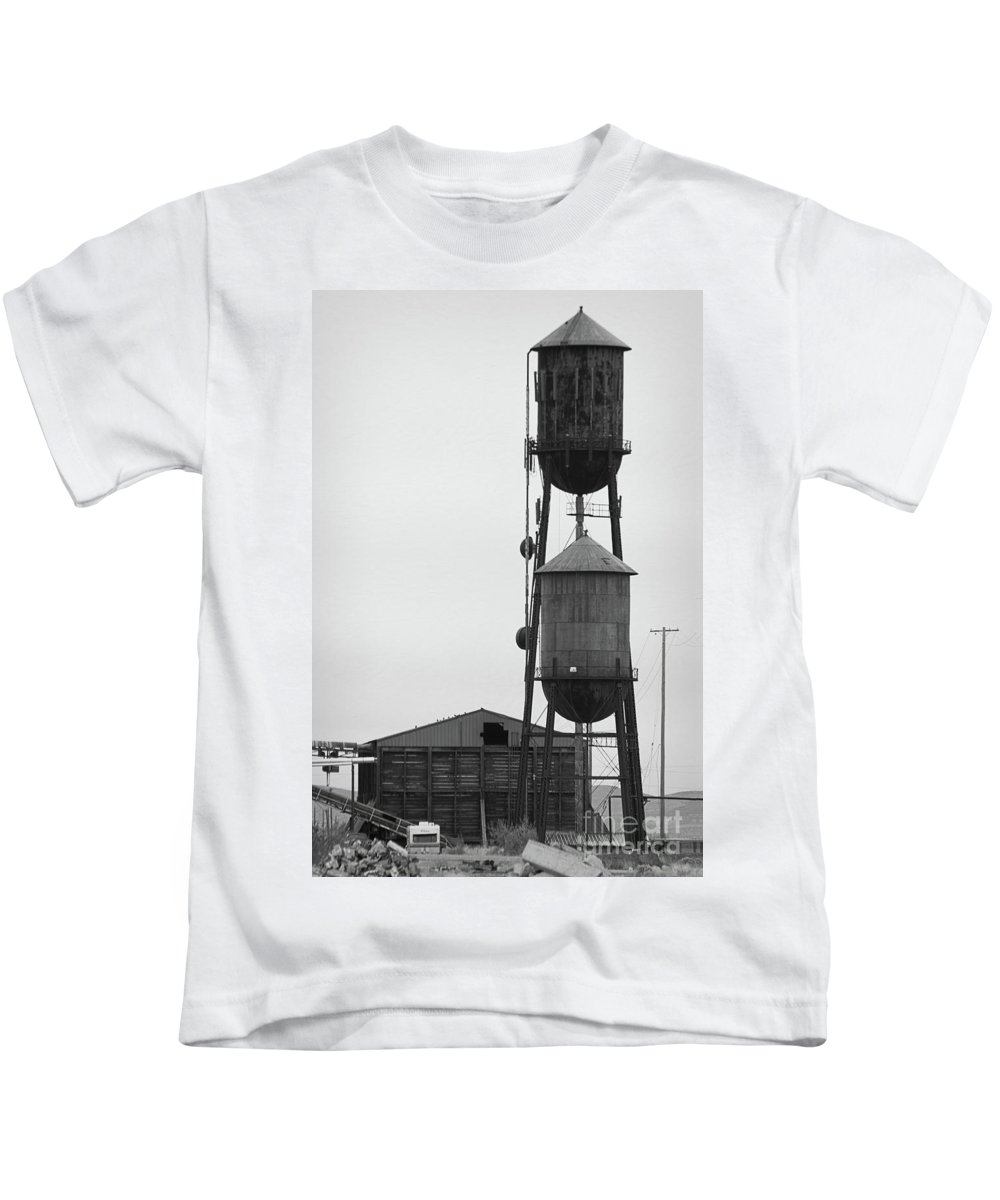 Fruit Growers Supply Company Kids T-Shirt featuring the photograph Water Tanks by Mellissa Ray