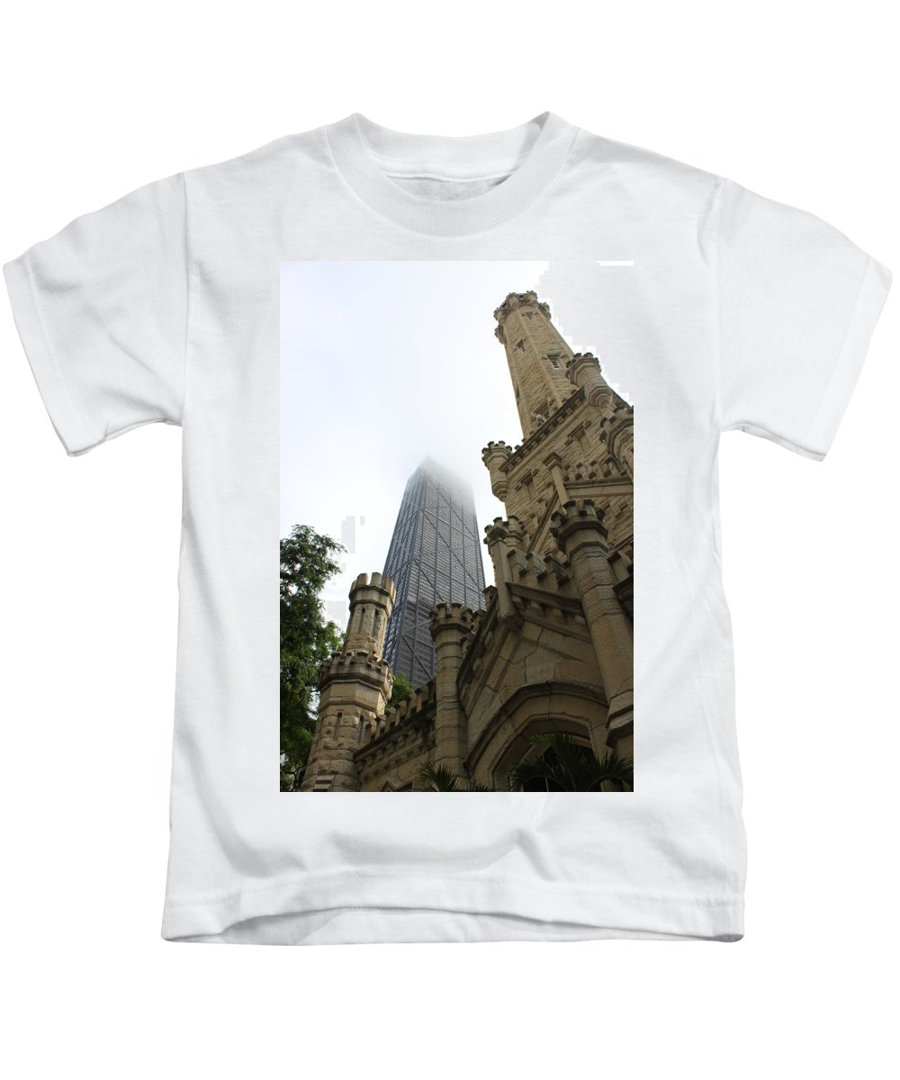 Chicago Kids T-Shirt featuring the photograph Water Tower And Hancock by Lauri Novak
