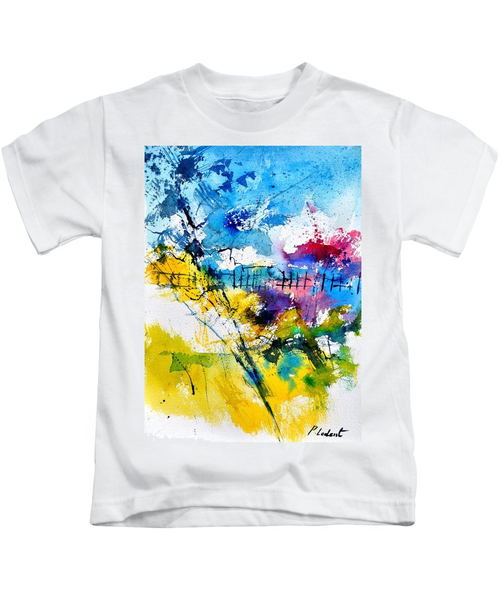 Abstract Kids T-Shirt featuring the painting Watercolor 114052 by Pol Ledent