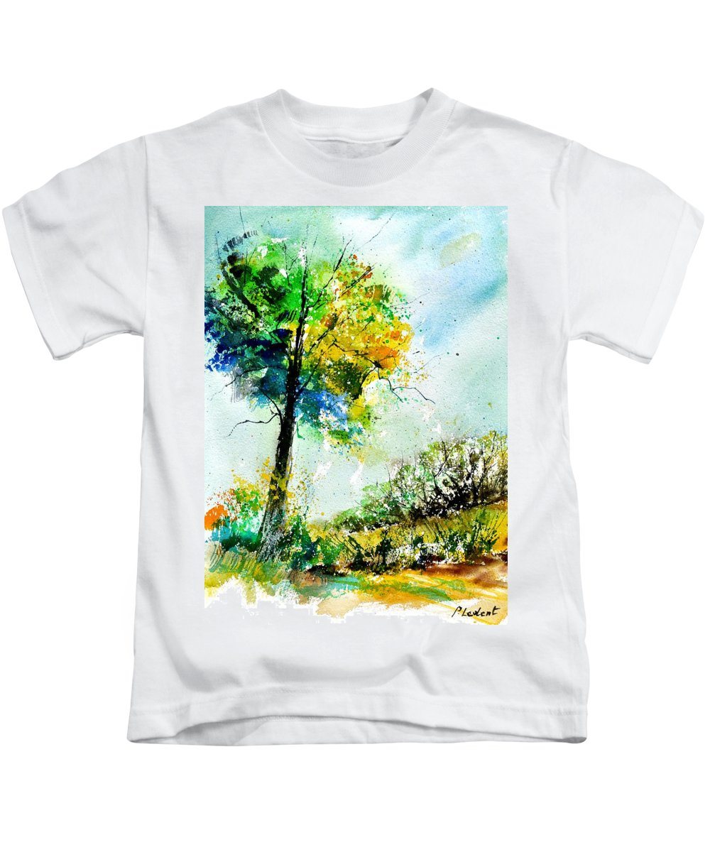Landscape Kids T-Shirt featuring the painting Watercolor 114062 by Pol Ledent