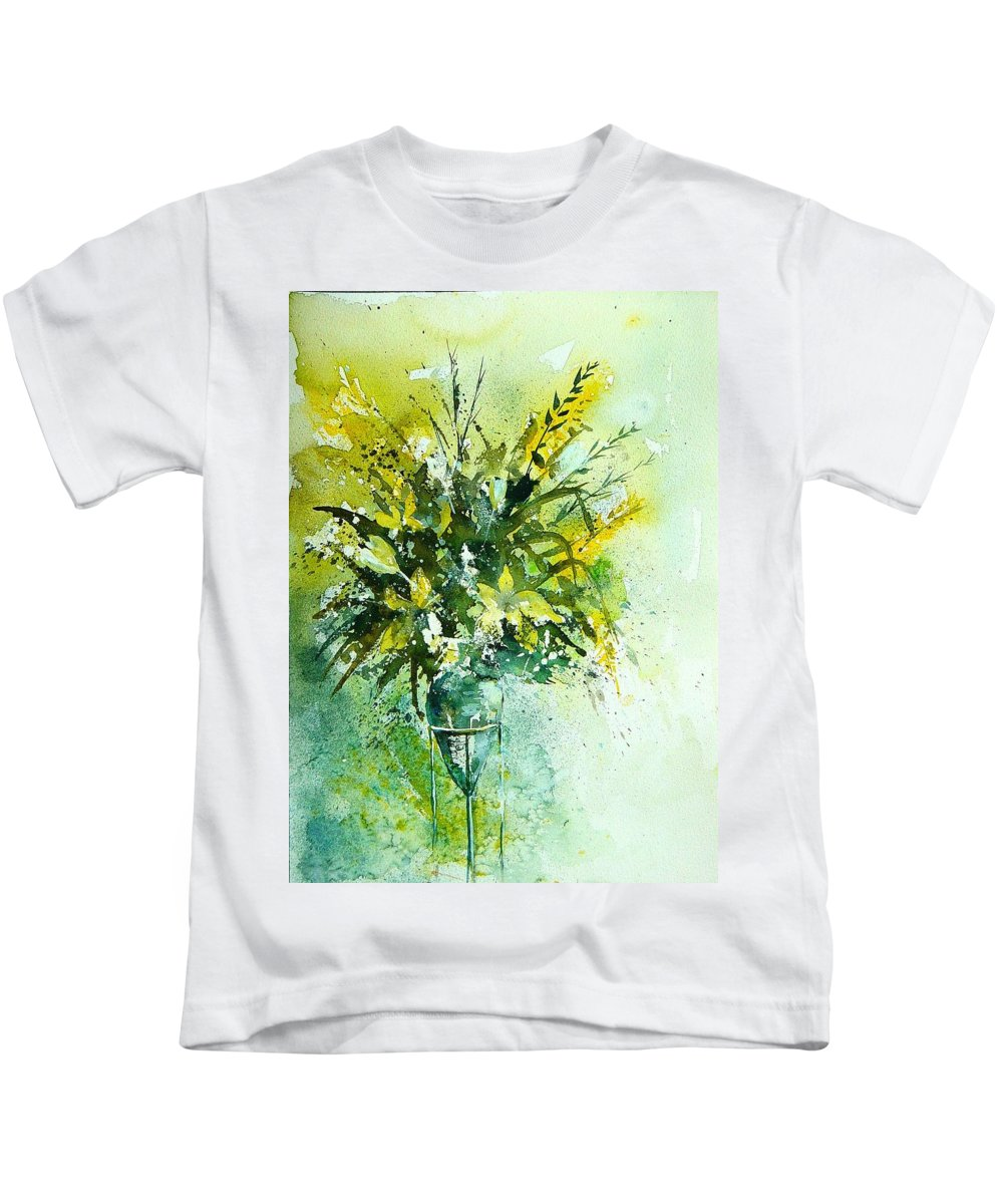 Flowers Kids T-Shirt featuring the painting Watercolor 120406 by Pol Ledent