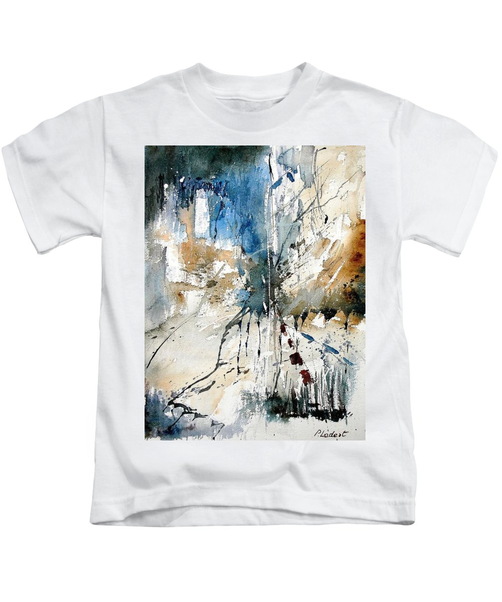 Abstract Kids T-Shirt featuring the painting Watercolor 251108 by Pol Ledent