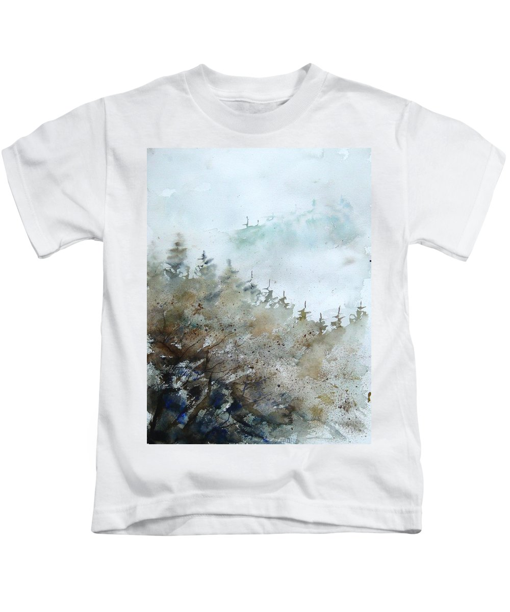 Tree Kids T-Shirt featuring the painting Watercolor 356214 by Pol Ledent