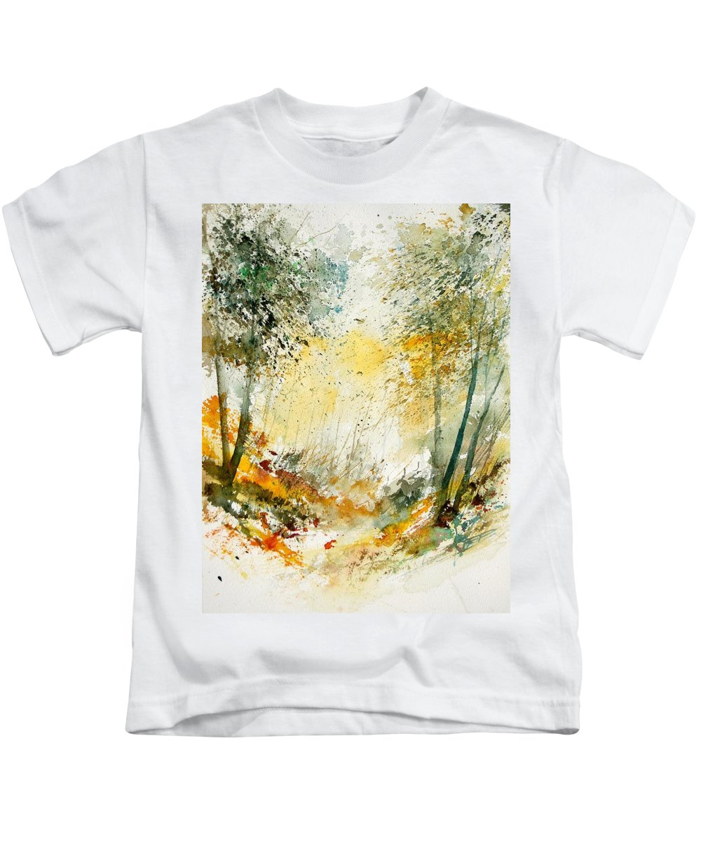 Tree Kids T-Shirt featuring the painting Watercolor 908021 by Pol Ledent