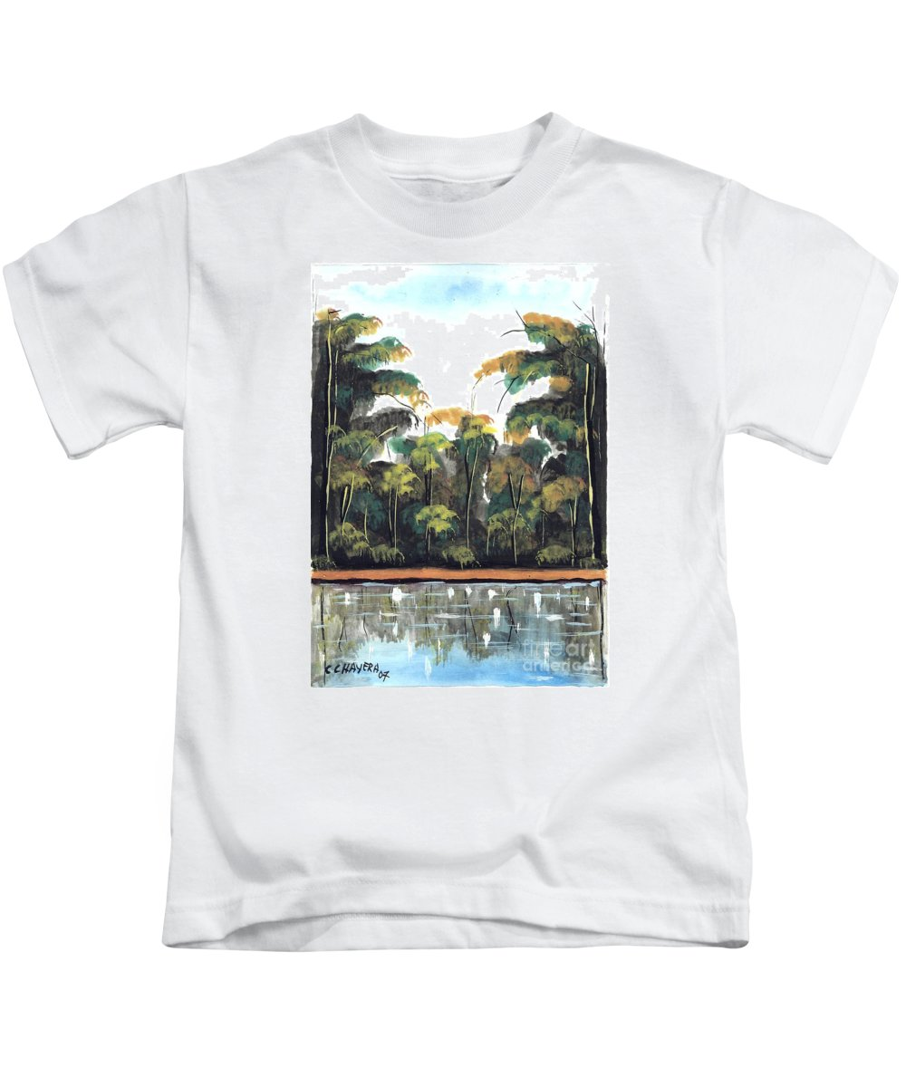 African Kids T-Shirt featuring the painting Watercolor 97 by Chrisfold Chayera