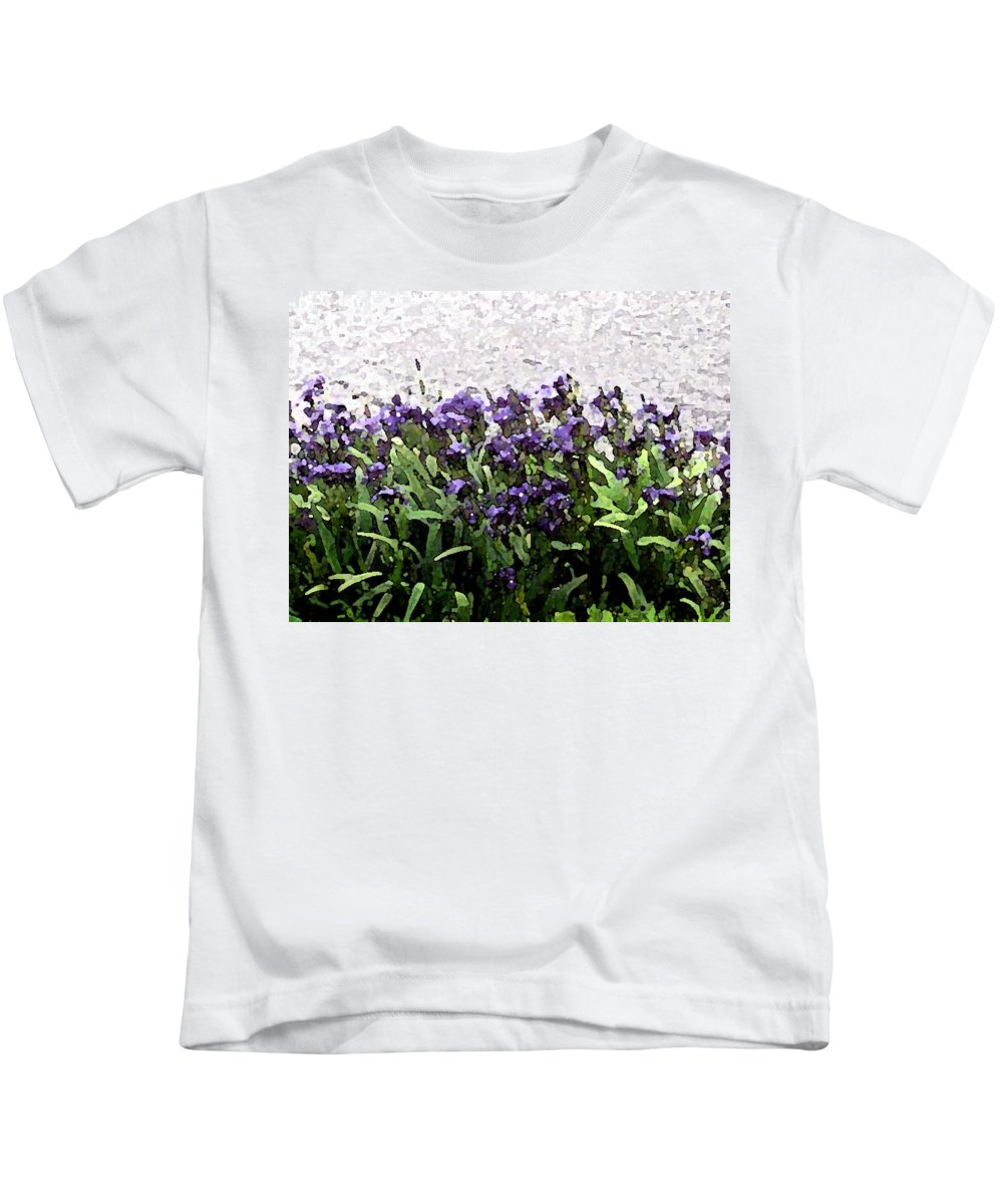 Abstract Art Kids T-Shirt featuring the photograph Watercolor Iris by Barbara Griffin