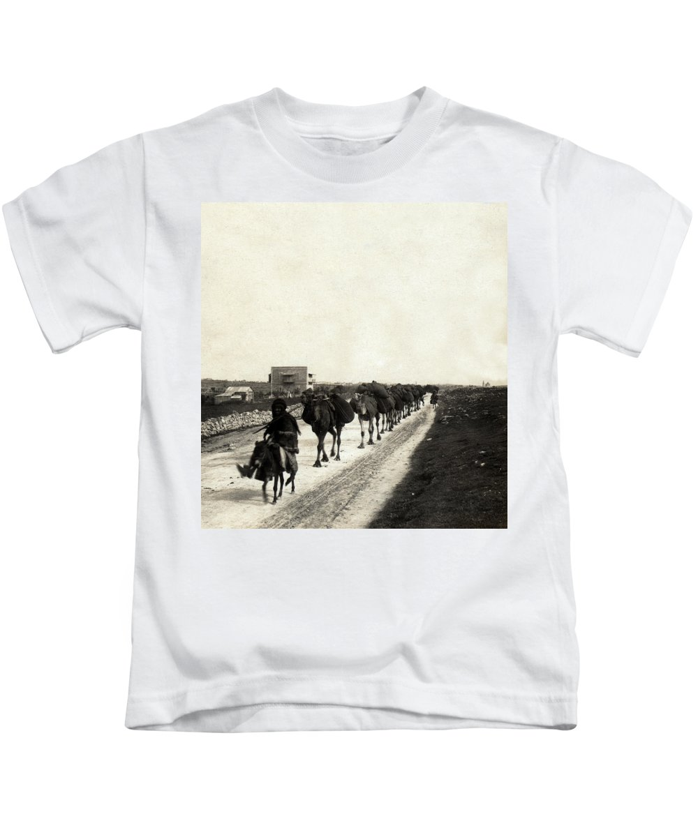 Christmas Kids T-Shirt featuring the photograph Way To Bethlehem by Munir Alawi