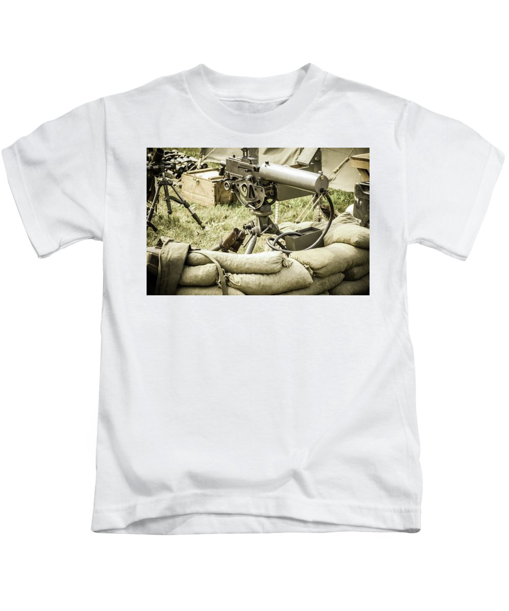 D-day Kids T-Shirt featuring the photograph Weapons by Stewart Helberg