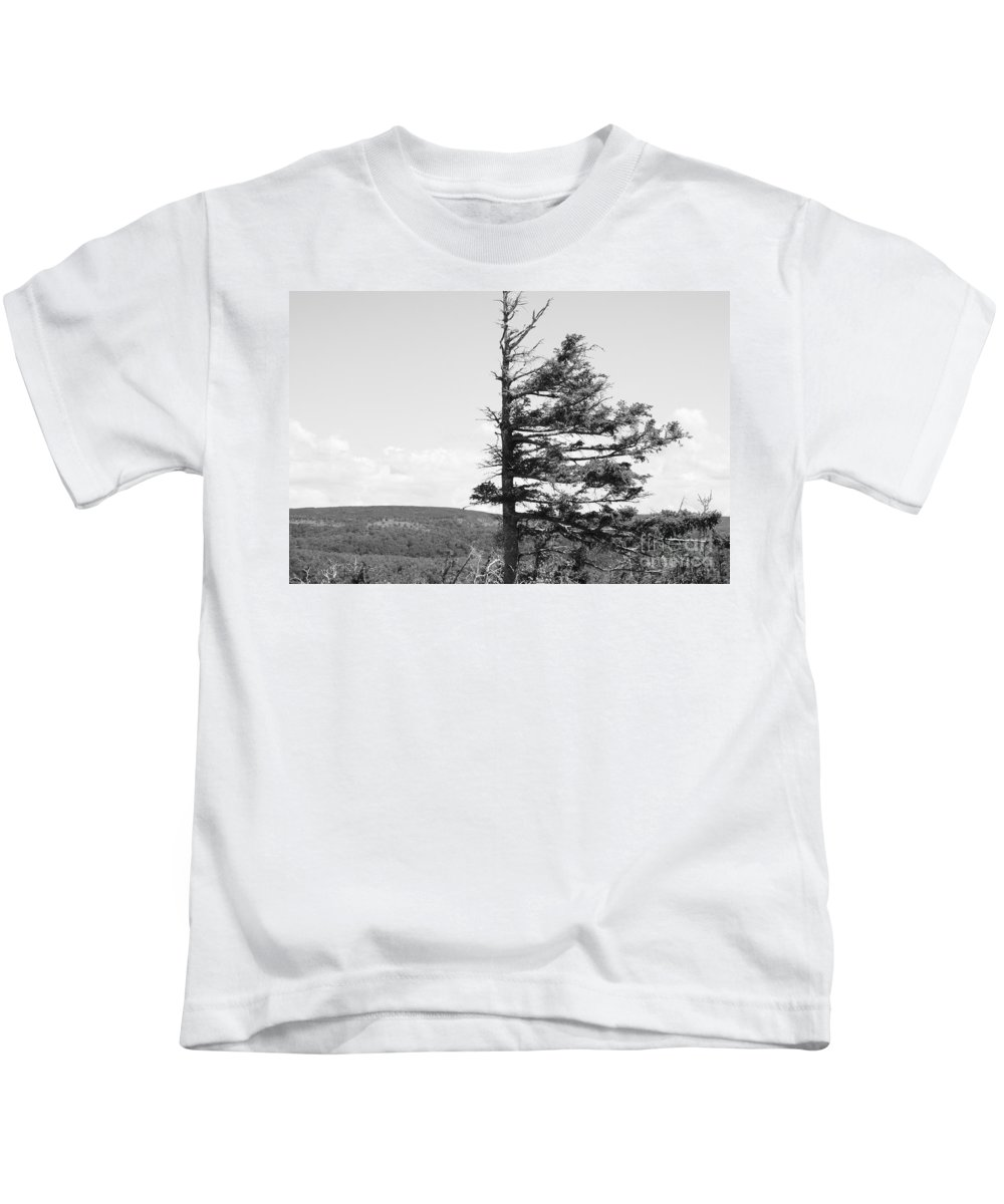 Weathered Tree Kids T-Shirt featuring the photograph Weathered Tree by Joe Ng