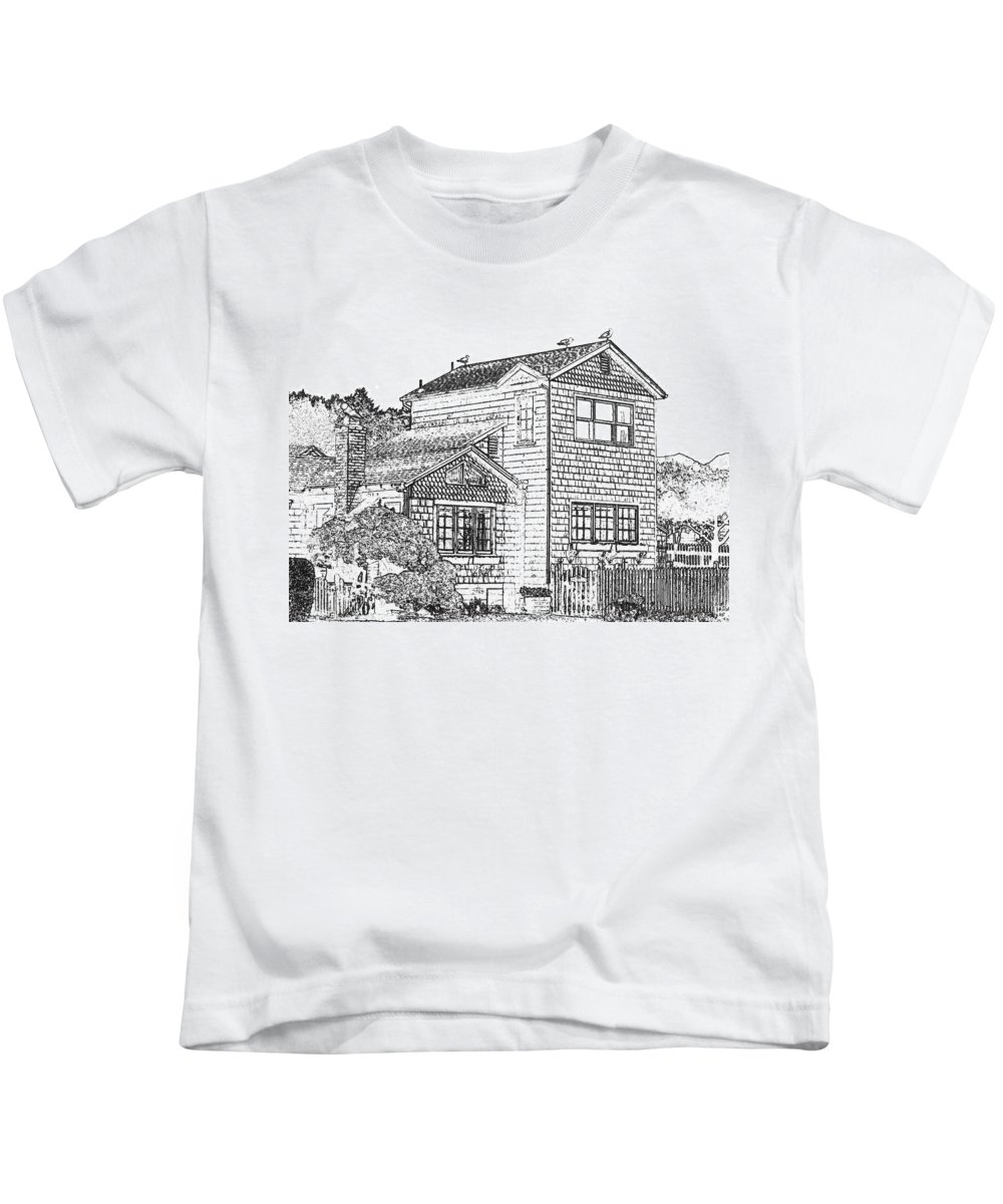 Welcome Home Kids T-Shirt featuring the digital art Welcome Home 8 by Will Borden