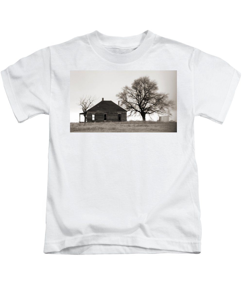 Texas Kids T-Shirt featuring the photograph West Texas Winter by Marilyn Hunt