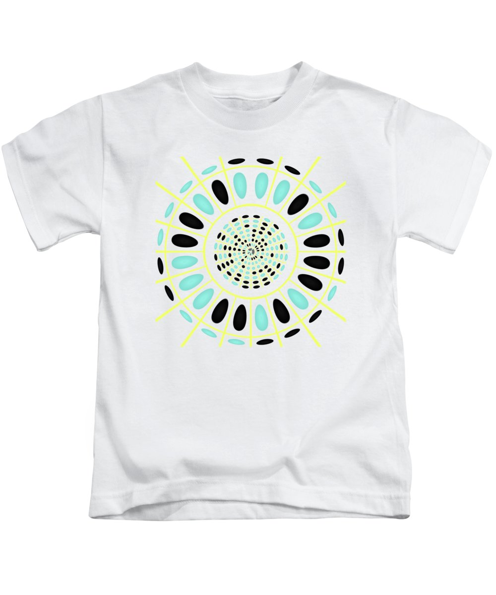 Target Kids T-Shirt featuring the digital art Wheel On White by Gaspar Avila