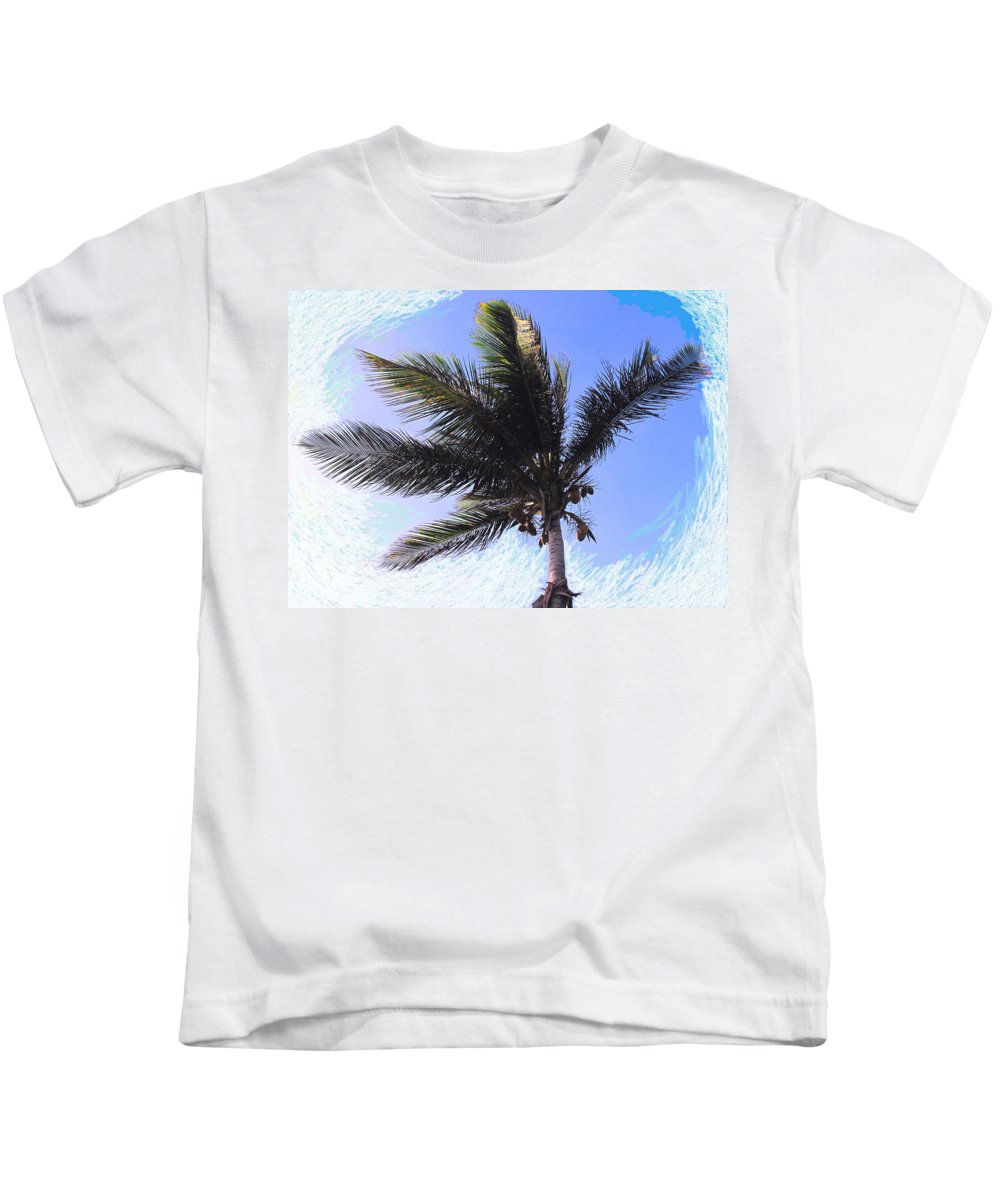 Palm Kids T-Shirt featuring the photograph Where Coconuts Come From by Ian MacDonald
