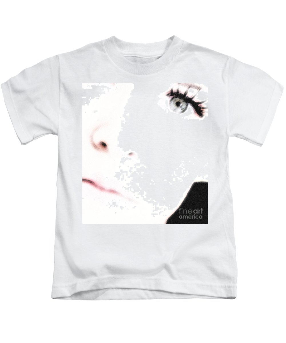 Face Kids T-Shirt featuring the photograph Where Is The Soul by Amanda Barcon