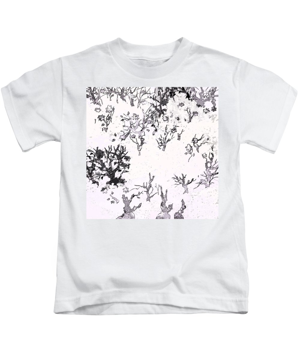 Abstract Kids T-Shirt featuring the digital art White As Snow by Rachel Christine Nowicki