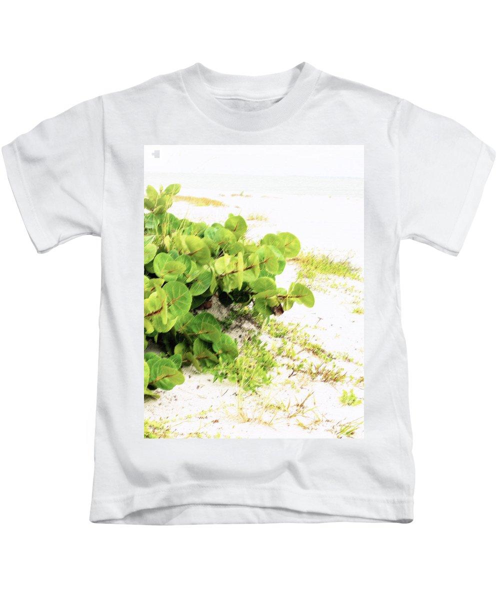Florida Kids T-Shirt featuring the photograph White Sand Beach by Ian MacDonald