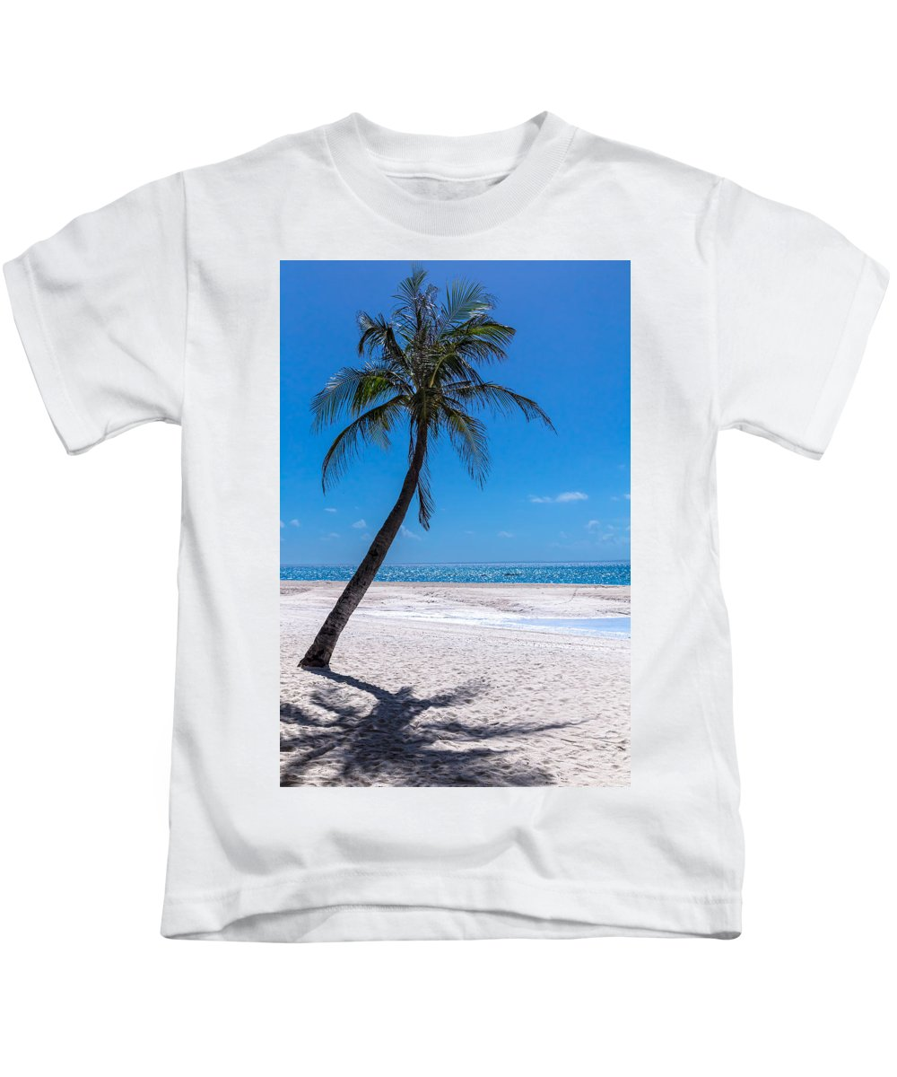 Beach Kids T-Shirt featuring the photograph White Sand Beaches And Tropical Blue Skies by James BO Insogna