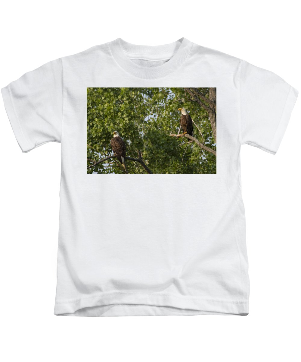 Bird Kids T-Shirt featuring the photograph Who's Bald? by Suanne Forster
