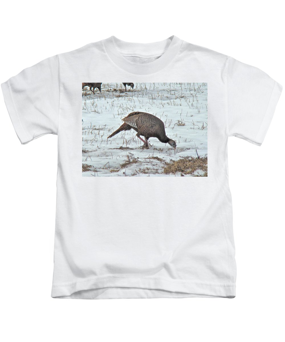 Turkey Kids T-Shirt featuring the photograph Wild Turkey - Meleagris Gallopavo by Mother Nature