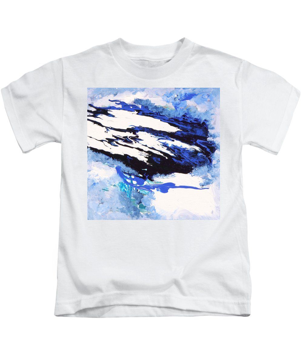 Fusionart Kids T-Shirt featuring the painting Wind by Ralph White