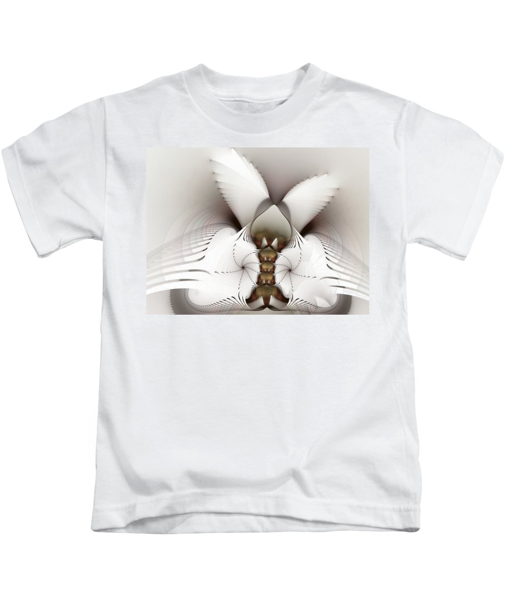 Fractal Kids T-Shirt featuring the digital art Wings In Motion by Amorina Ashton