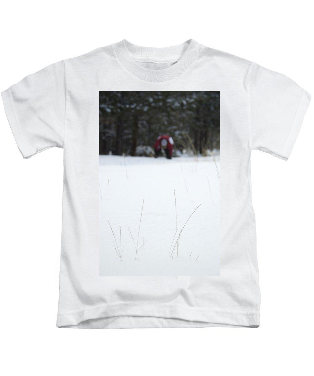 Winter Grass Kids T-Shirt featuring the photograph Winter Grass by Scott Sawyer