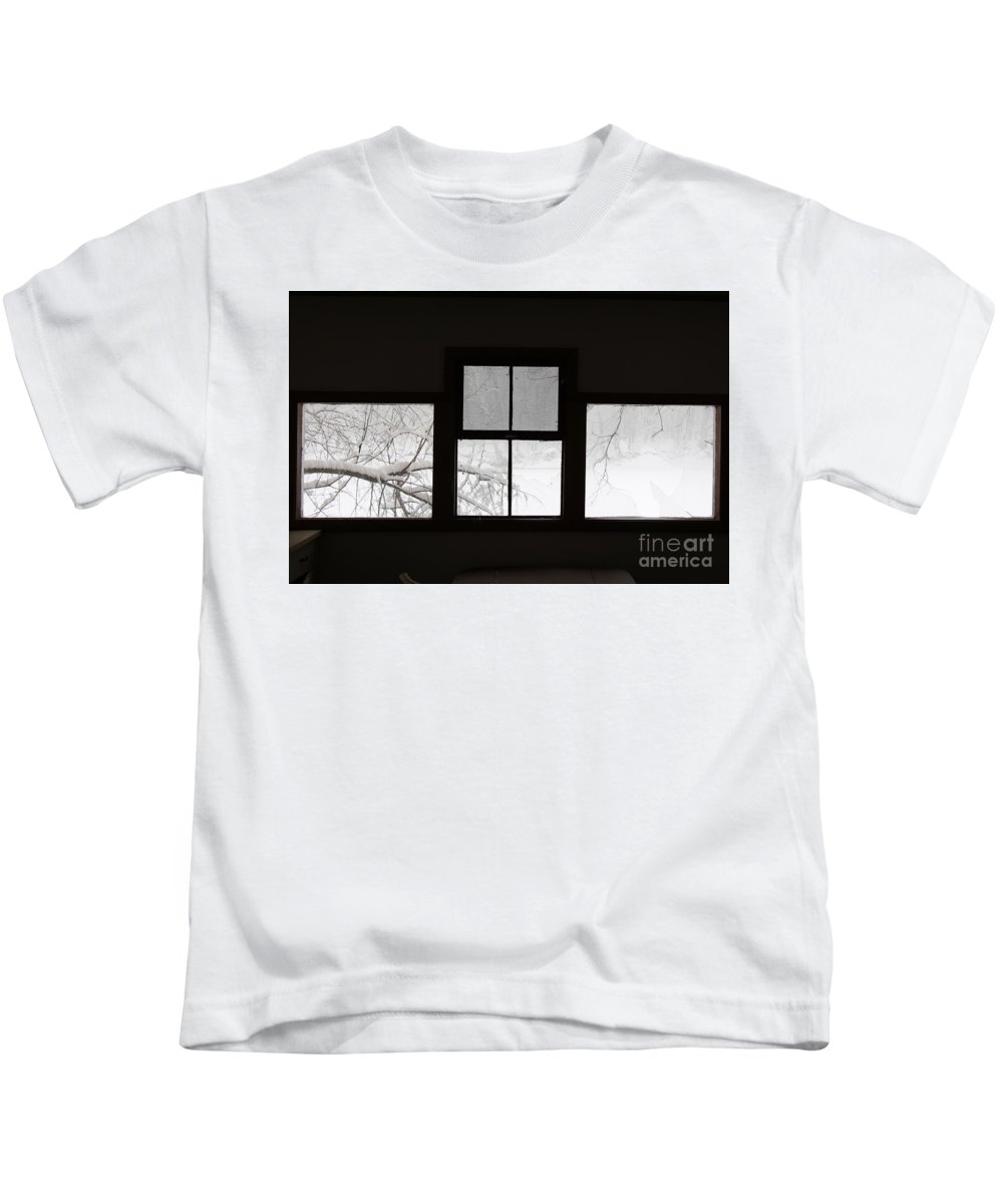 Windows Kids T-Shirt featuring the photograph Room With A View by John Franke
