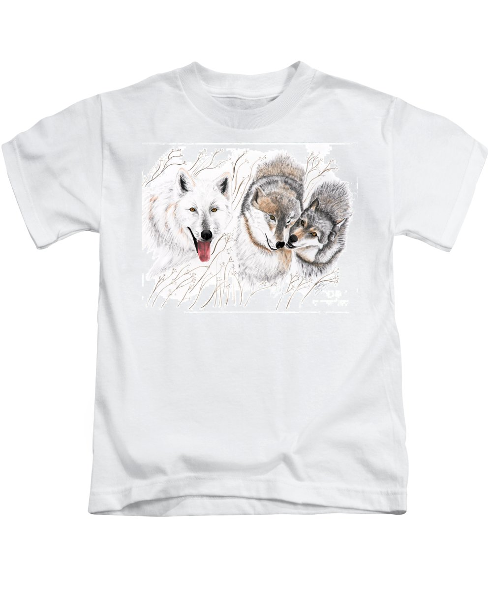 Joette Kids T-Shirt featuring the painting Winter Play by Joette Snyder