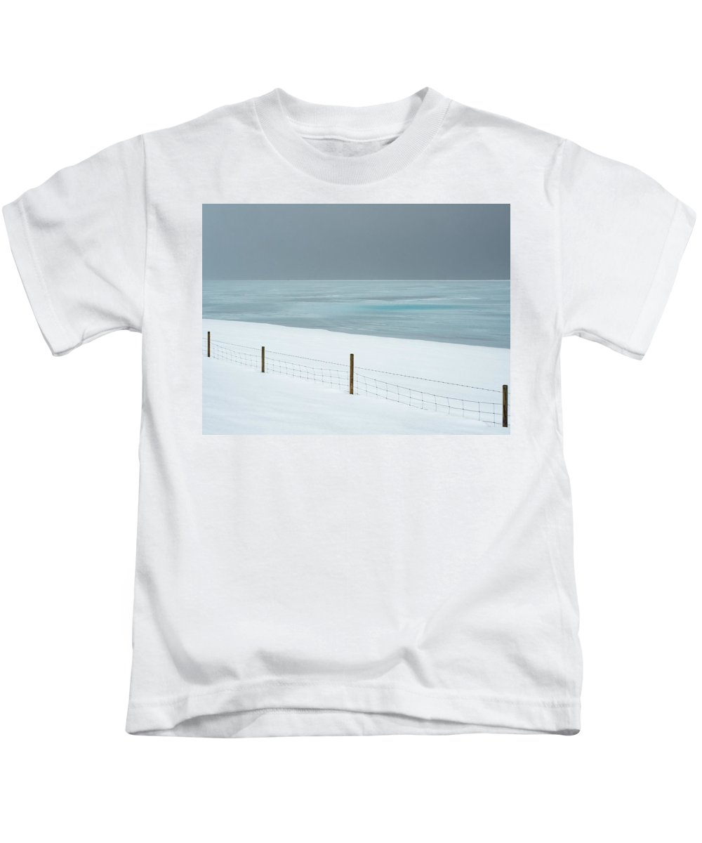 Iceland Kids T-Shirt featuring the photograph Winter Seascape by Dan Leffel