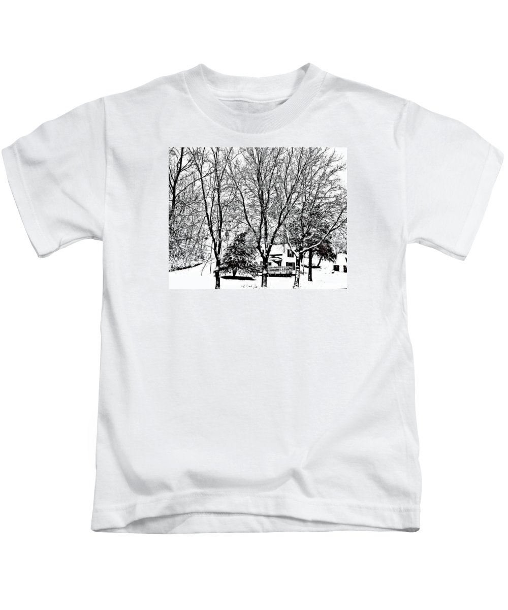 Snow Kids T-Shirt featuring the photograph Winter Wonderland by Lori Faircloth