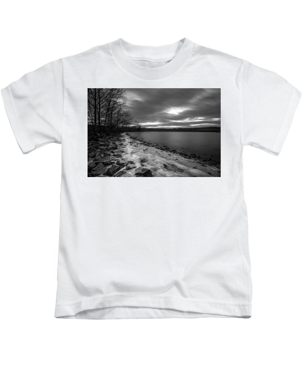 Long Exposures Kids T-Shirt featuring the photograph Winter's Bite by Todd Wilkinson