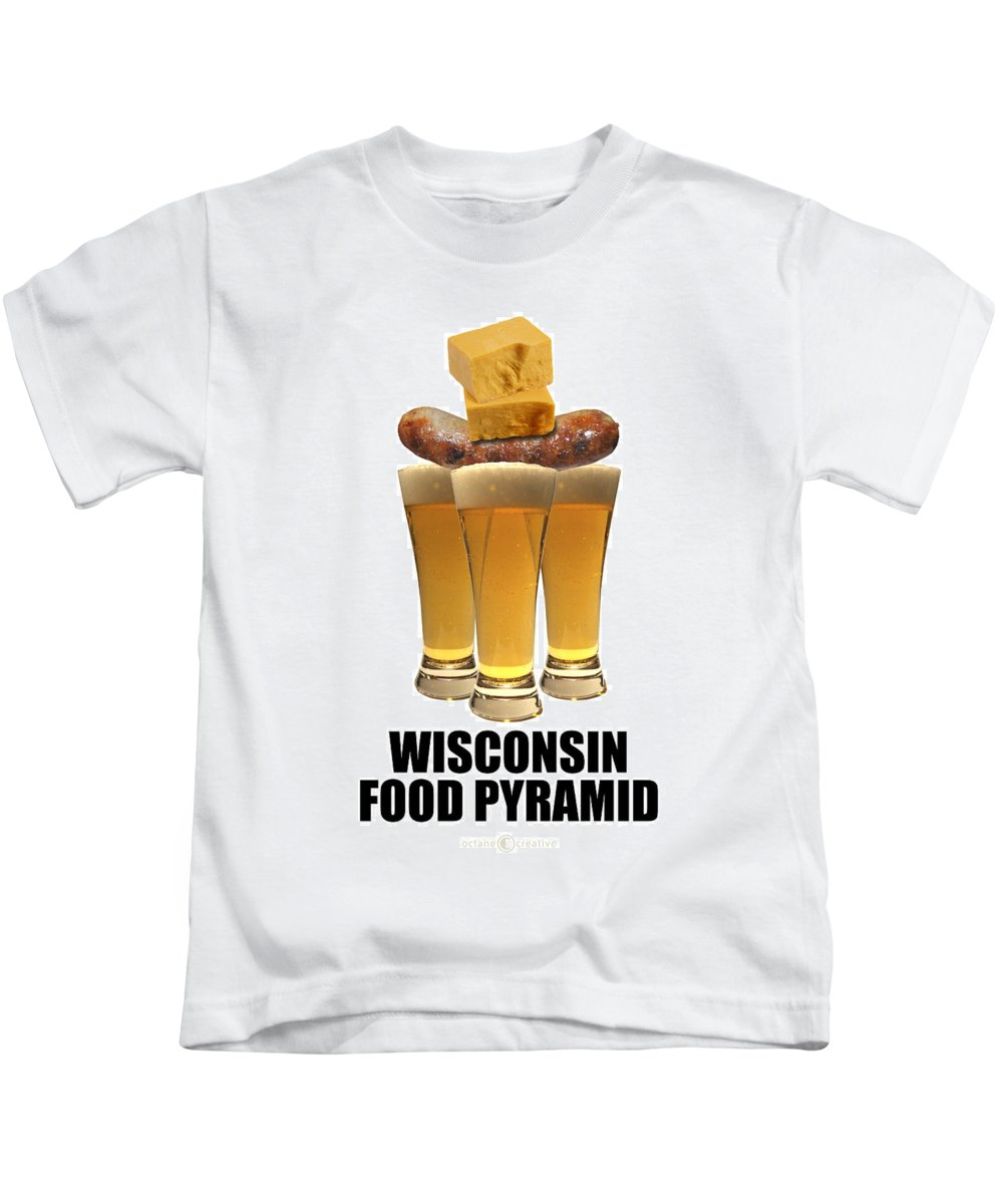 Wisconsin Kids T-Shirt featuring the photograph Wisconsin Food Pyramid by Tim Nyberg
