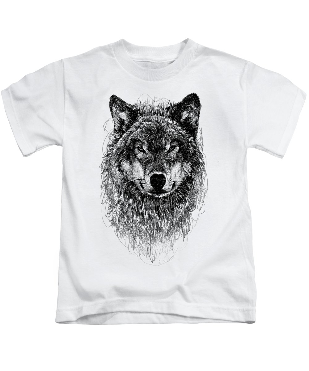 Wolf Kids T-Shirt featuring the digital art Wolf by Michael Volpicelli