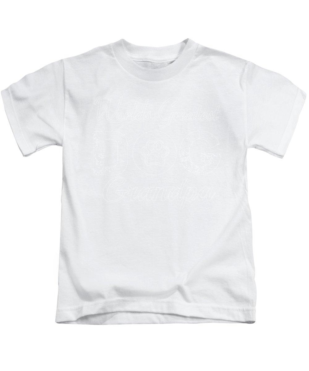 Beagle Kids T-Shirt featuring the digital art Worlds Greatest Dog Grandpa by Kaylin Watchorn