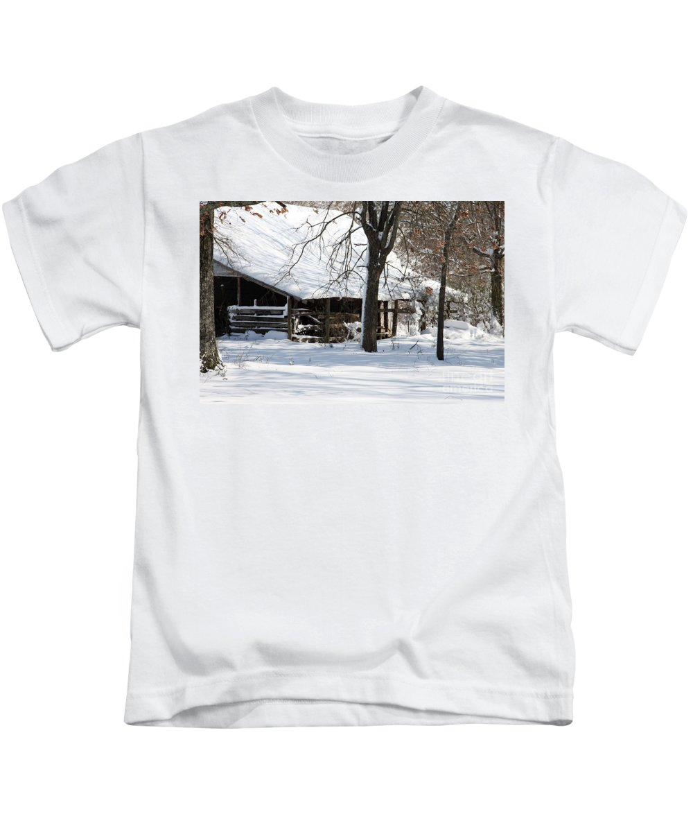 Rural Kids T-Shirt featuring the photograph Wrapped In Silence by Amanda Barcon