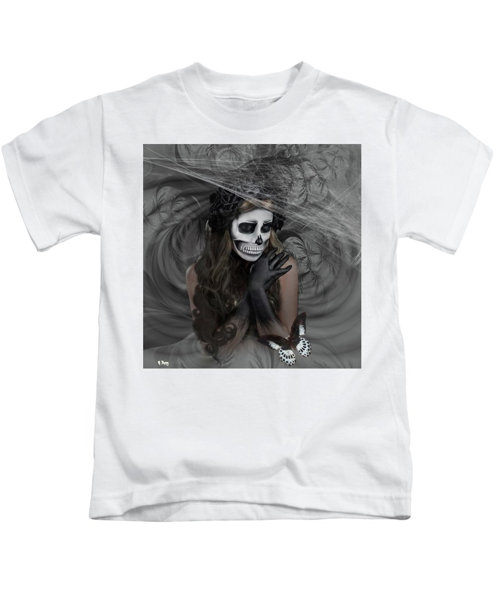 Sugar Baby Kids T-Shirt featuring the mixed media Who Will Want My Painful Soul 001 by G Berry