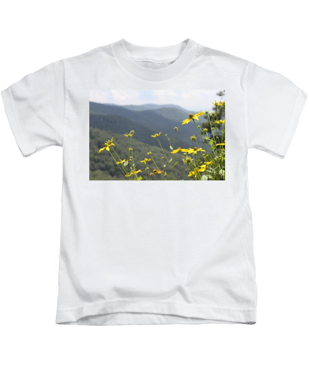 Yellow Kids T-Shirt featuring the photograph Yellow Flowers by Tina Foote