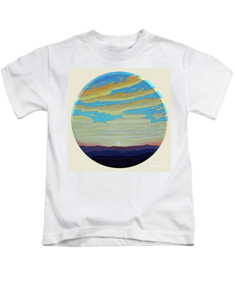 Landscape Kids T-Shirt featuring the painting Yesterday by Brian Commerford