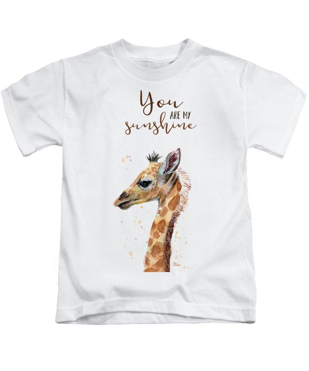 Having A Giraffe Kids T-Shirt