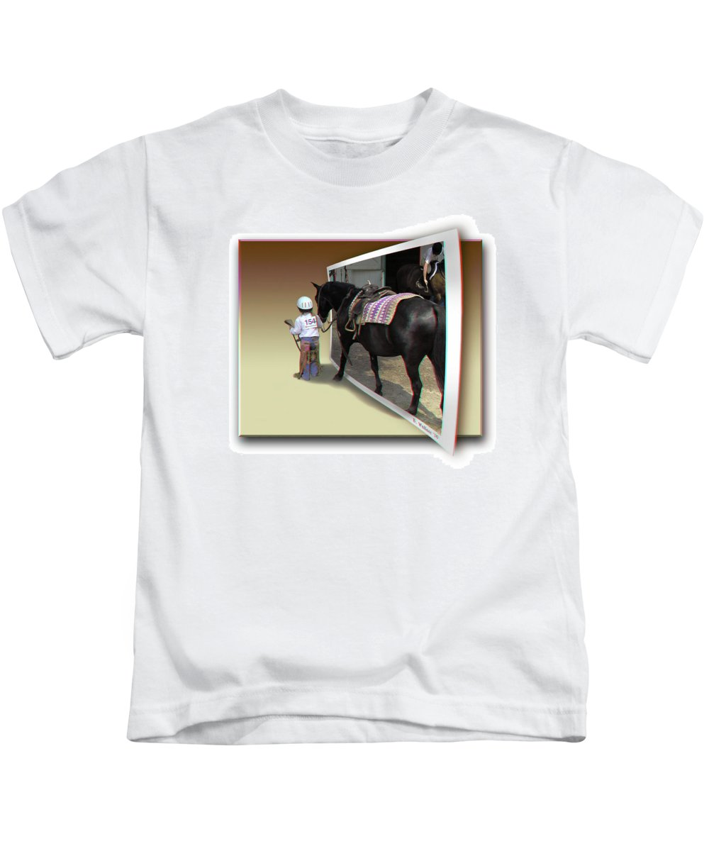 3d Kids T-Shirt featuring the photograph You Come With Me - Use Red-cyan 3d Glasses by Brian Wallace