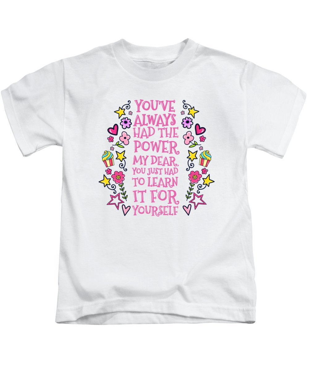 Painting Kids T-Shirt featuring the painting You Have Always Had The Power by Little Bunny Sunshine