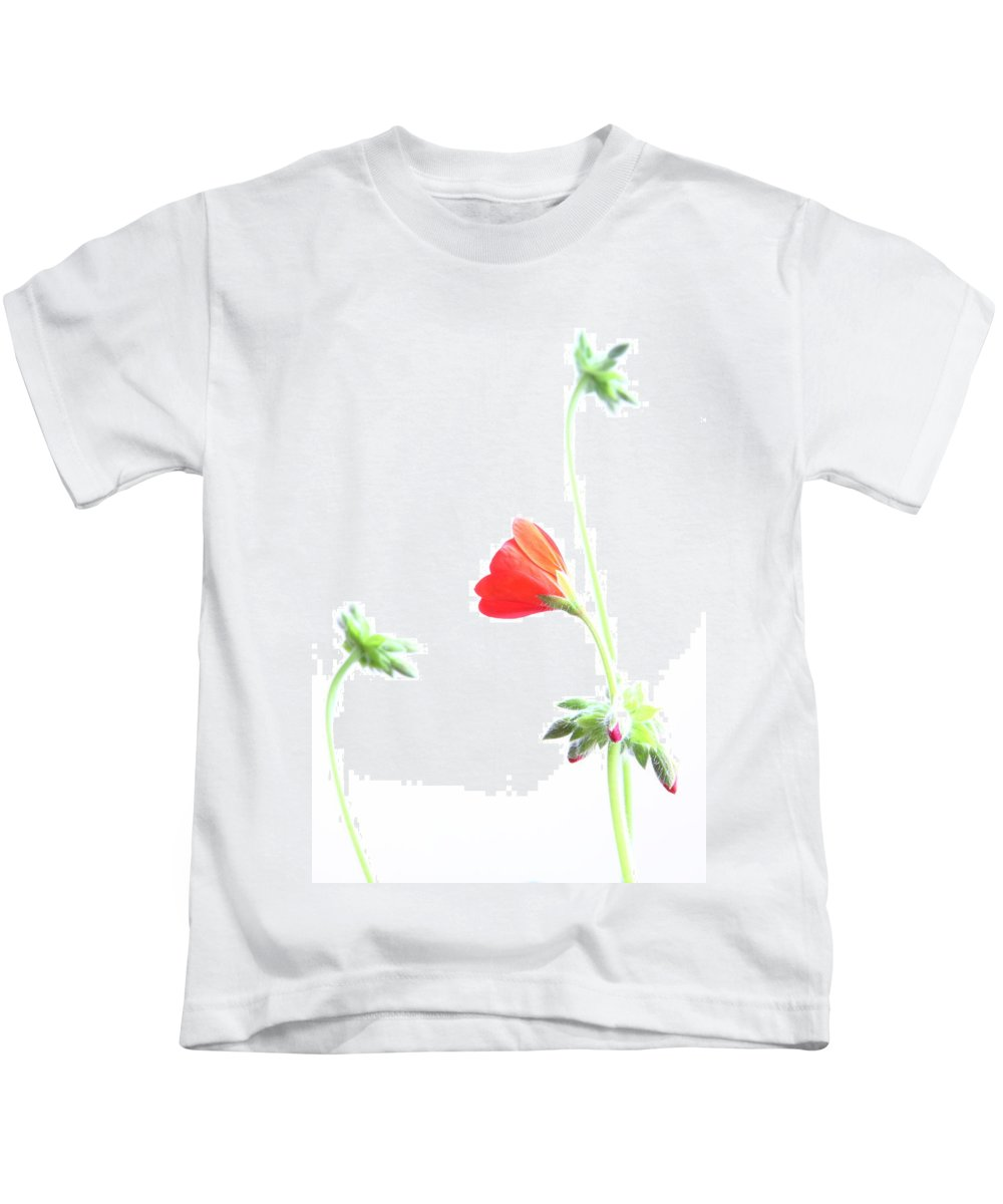 Geranium Kids T-Shirt featuring the photograph Young Geranium Fine Art Photography Print by James BO Insogna