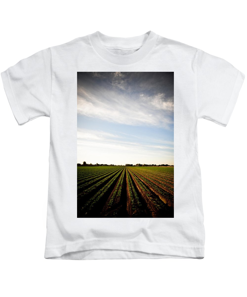 Lettuce Kids T-Shirt featuring the photograph Yuma Fields by Scott Sawyer