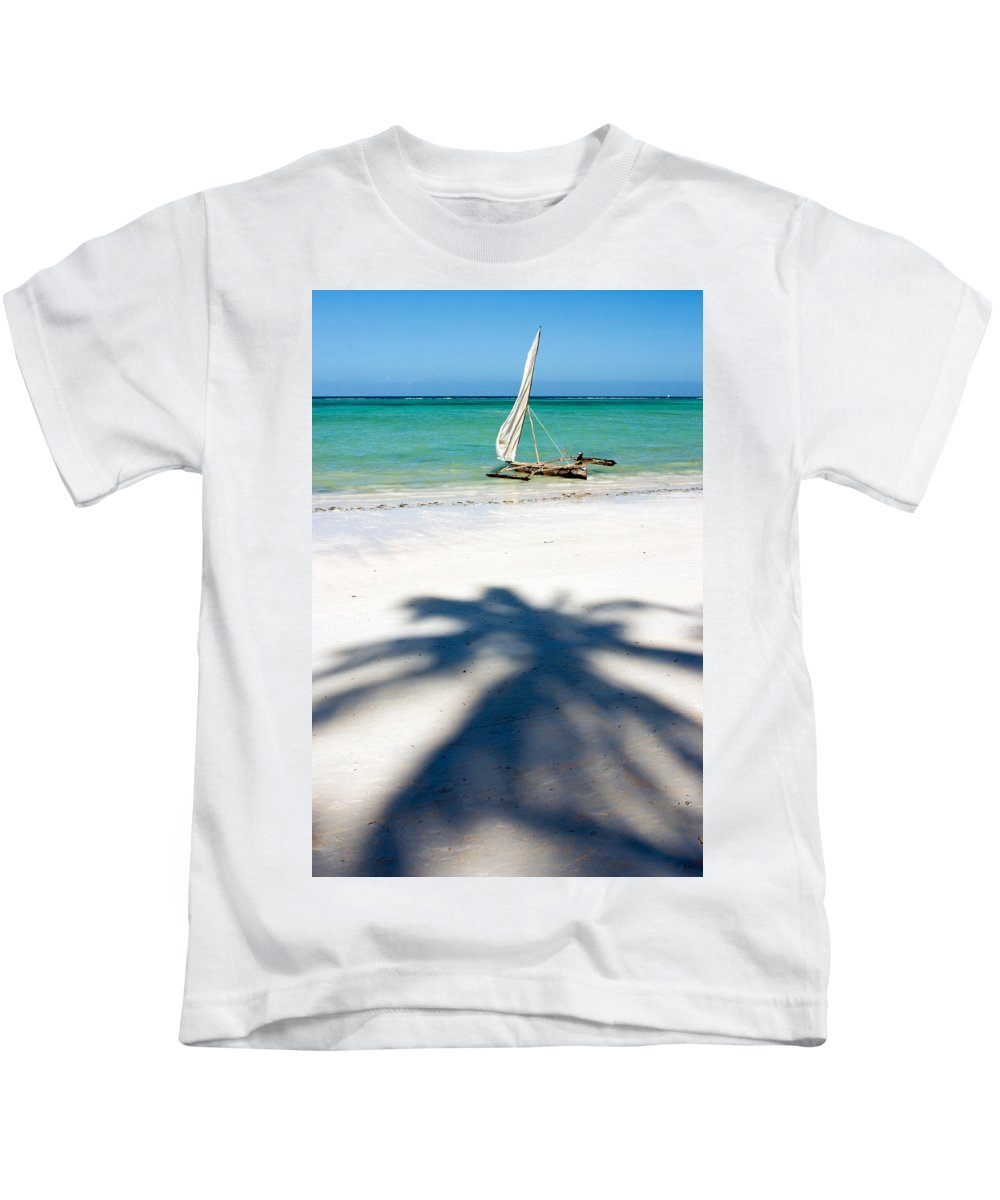 3scape Kids T-Shirt featuring the photograph Zanzibar Beach by Adam Romanowicz