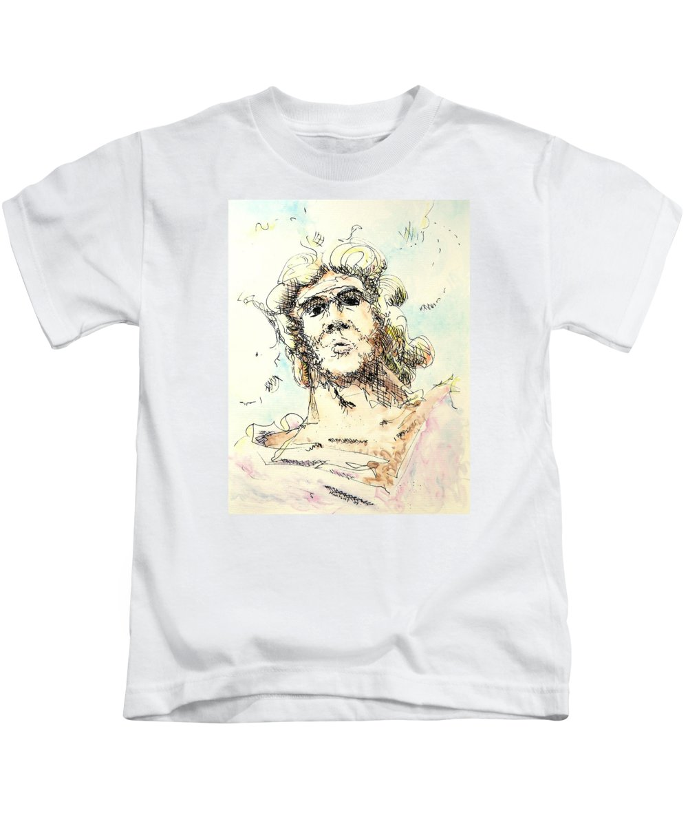 Zeus Kids T-Shirt featuring the painting Zeus by Dave Martsolf