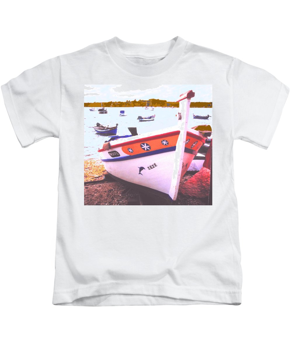 Portugal Kids T-Shirt featuring the photograph Zeze On The Algarve by Ian MacDonald