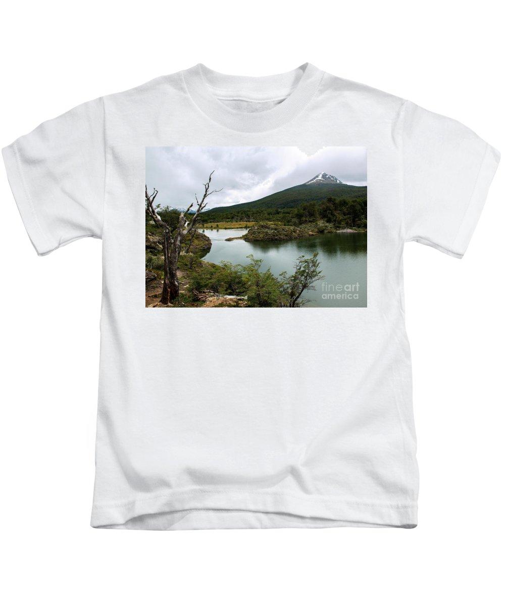 Laguna Verde Kids T-Shirt featuring the photograph Laguna Verde, Tierra Del Fuego National Park, Ushuaia, Argentina by Yefim Bam