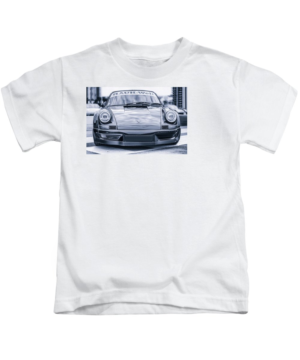 Porsche 911 Carrera Kids T-Shirt featuring the photograph Porsche 911 Carrera Turbo 964 Rwb by Benjamin Dupont