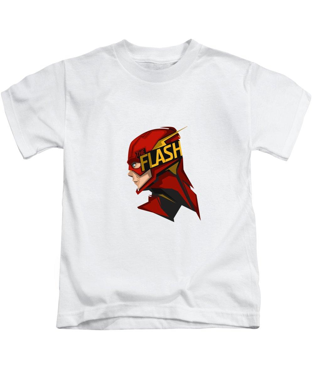 Flash Kids T-Shirt featuring the digital art Flash by Geek N Rock