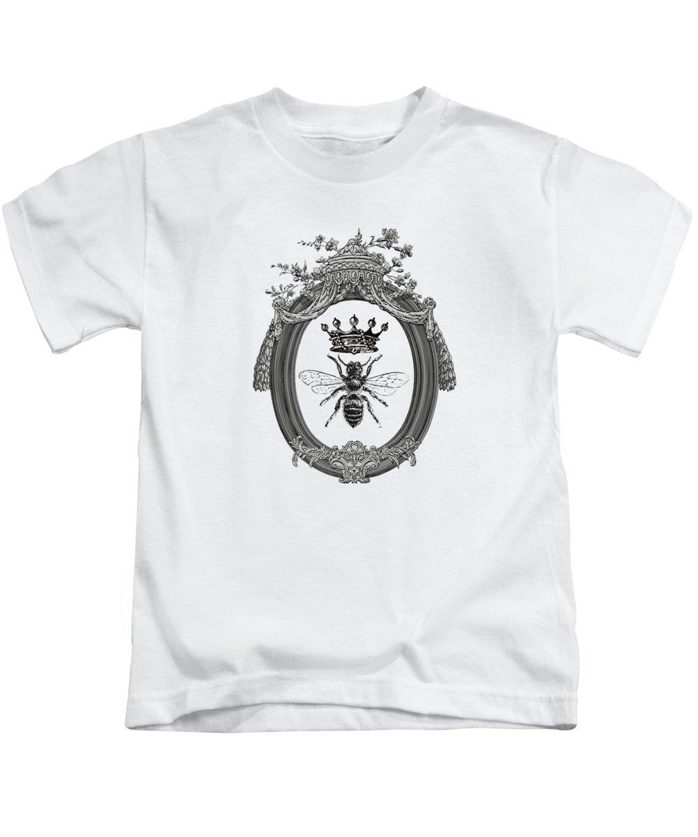 Queen Bee Kids T-Shirt featuring the digital art Queen Bee by Eclectic at HeART